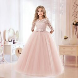 Flower Girls Dresses For Wedding Lace Little Bridesmaid Girl Dress Party Gown