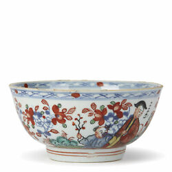Chinese Qianlong Overdecorated Porcelain Bowl 18th C.
