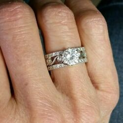 Platinum And Diamond Hand-engraved Engagement Mounting, Size 6.75