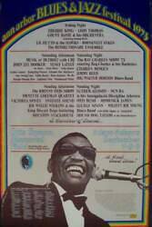 Ann Arbor 1973 Blues And Jazz Festival Concert Poster Gary Grimshaw Ray Charles