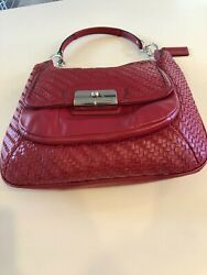 Red Coach Leather Bag $50.00