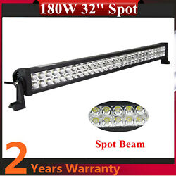 32''inch Spot Beam 180w Led Light Bar Off Road Ford Tractor Waterproof Suv 4x4