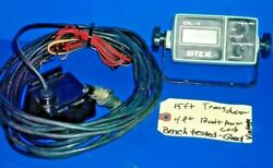 Si-tex Depth Dl-1 Type12vdc15and039 Transducer4and039 12v Power Cordbracket W/seahorse