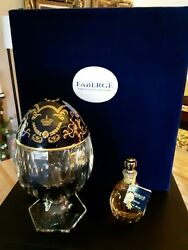 Faberge Flacon Fragrance And Saint Louis Crystal Egg. Rare,discontinued,fabulous