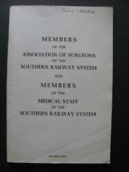 Southern Railway System Surgeons And Medical Staff 1967 Member Directory Train Rr