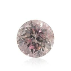0.32cts Fancy Pink Loose Diamond Natural Color Round Cut Gia Certified