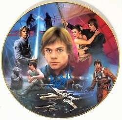 Mark Hamill Signed Autographed Collectors Plate Star Wars Psa/dna Ac27802