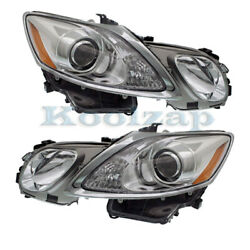 For 07-11 Gs350/gs430/gs460 Front Headlight Headlamp W/o Washer Holes Set Pair