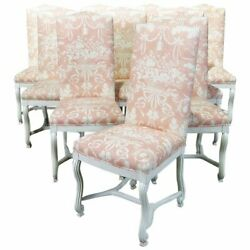 Gorgeous Set 10 Louis Xv Mutton Leg Painted Dining Side Chairs Great Colors