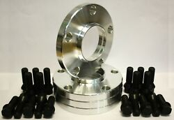 4 X 25mm Wheel Spacers And Black Bolts Fit For 5 Series F07 F10 F11