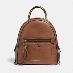 New Coach Andi Convertible Backpack Crossbody Rainbow Brown Leather Purse