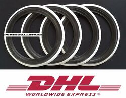 Usa Classic Style 15and039and039 Blackandwhite Wall Portawall Tire Insert Trim Set .268