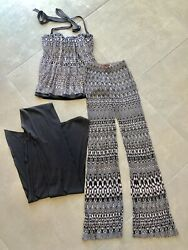Missoni Zig-zag 3 Piece Top Trousers And Silk Scarf It 40 Uk 8