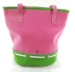 TOMMY HILFIGER Vintage 90s Pink Bucket Bag Tags Attached Coin Purse Includ $28.00