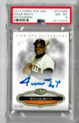 2013 Topps Tier One Willie Mays Auto /50 Psa 8