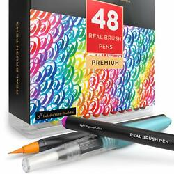 Real Brush Pens Watercolor Painting With Flexible Nylon Brush Tips Paint Markers