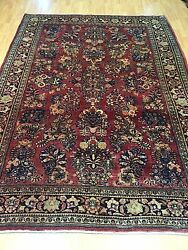 6and0395 X 9and039 Antique Turkish Oriental Rug - 1930s - Hand Made - Full Pile