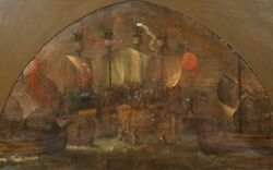 Huge English Medieval 15th Century Naval Ship Battle Soldiers