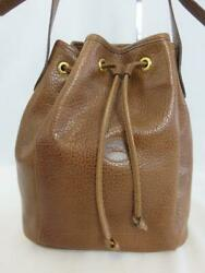 Classic LONGCHAMP Brown Pebbled Leather BUCKET BAG Crossbody Strap PARIS FRANCE