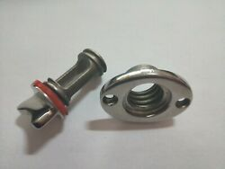 Boat Fits 1and039and039 Hole Garboard Drain Plug 316 Stainless Steel Thread For 3/4and039and039