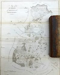 Kent, 1797 - Original Antique Map Of Hundreds Of Wingham And Kinghamford - Hasted.