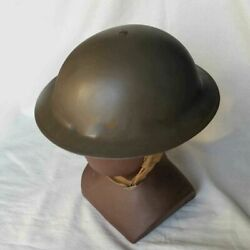 Wwii Uk Army Early Mk2 British Tommy Uniform Steel Helmet Collectibles Gray
