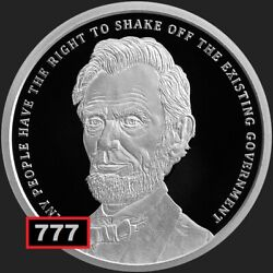 2019 1 Oz Proof Abraham Lincoln Potus 16 Silver Shield Group Ssg Sbss 777