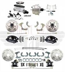 1955-68 Fullsize Chevy Impala Bel Air Wilwood Front And Rear Disc Brake Kit