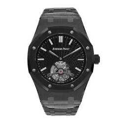 Audemars Piguet Royal Oak Ceramic Black Extra-Thin Tourbillon 41MM Watch