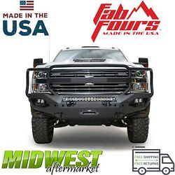 Fab Fours Matrix Front Bumper W| Guard For 2015-19 Chevrolet Silverado 2500 3500