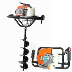 63cc One Man Gas 2.5hp Post Fence Hole Earth Auger Machine W/6 X 33 Drill Bit