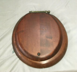Antique Mahogany Toilet Seat Cover With Lid Vtg 17x16 318-19l