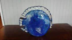 Blue Sunfish Art Glass Figurine - Crystal Clear - From China