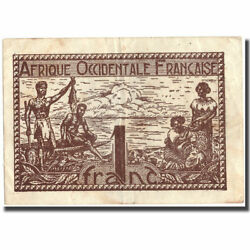 [216304] Banknote French West Africa 1 Franc 1944 1944 Km34b Ef40-45