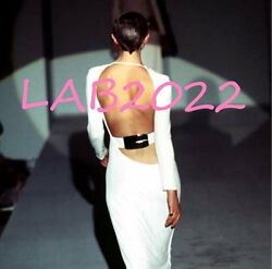 Gucci by Tom Ford Rarest 1996 Backless Finale Dress Archivally Correct 42 Black