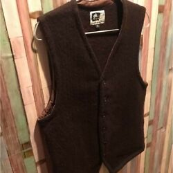 ENGINEERED GARMENTS Patterned All Over Knit Vest Brown Men's Tops Size S