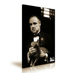 The Godfather Marlon Brando Cat Movie Modern Home Art Canvas 5 Sizes To Choose