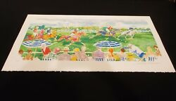 Polo Panorama Serigraph Leroy Neiman Pencil Signed D Edition Of 350 Coa