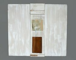 Art Sculpture. Abstract. Klaus Schrandoumlder From Germany. Pine Stained. 33x30x1 In.