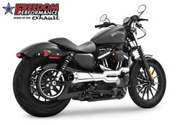 Freedom 2-into-1 American Outlaw Exhaust System Hd00413 Harley Sportster 2004-16