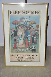 Elke Sommer Personally Signed Art Marshall Field Picture Gallery 1976
