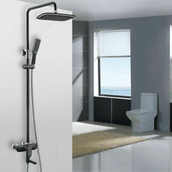 Single Handle Exposed Rain Shower Adjustable System With Tub Spout Solid Brass