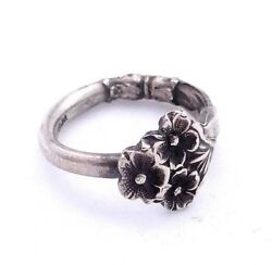 Sterling Silver Spoon Ring Reed And Barton Harlequin Forget Me Not Spoon Size 8