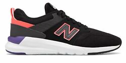 New Balance Women's 009 Shoes Black with Pink & Purple