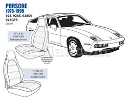 For Porsche 928 5in Bolster Front Leather Seat Cover Set 1985-95 Oem New