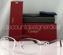 Cartier Frameless Sunglasses Brown Buffalo Horn Brown Polarized Lens CT0046S 002