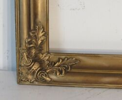 Antique 19c Good Quality Gilt Frame For Painting 20 X16 Outside 25 X 21 Inch