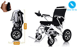 Best Remote Control Motorized Wheelchair Folding Only 50lb Supports Up To 350lb