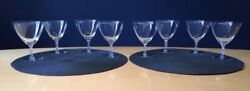 Lalique Eight Crystal Guebwiller Design Champagne/sherbet Glasses Circa 1954