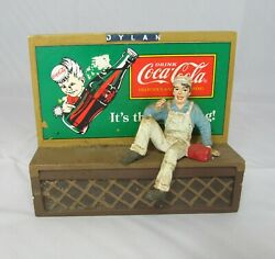 Coca-cola Town Square Collection Billboard Figure 1996 Holiday Christmas Village